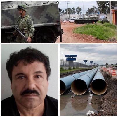 """En fotos: el túnel de 1.500 metros, con ventilación y luz eléctrica por el que fugó """"El Chapo"""" Guzmán"""